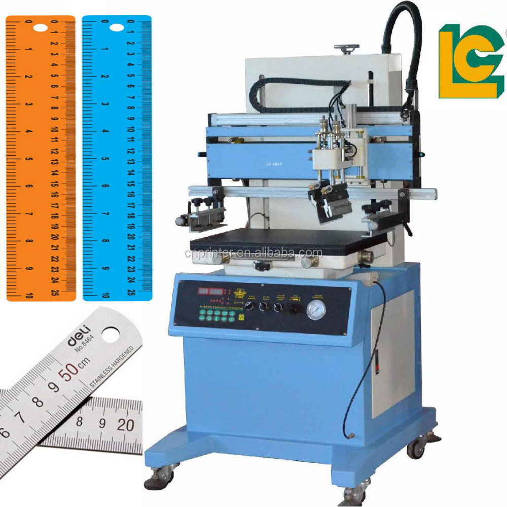 semi automatic serigraphic plastic ruler silk screen printing