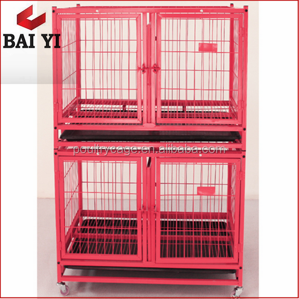 Galvanized Metal Large Dog Run Cages With Wheels