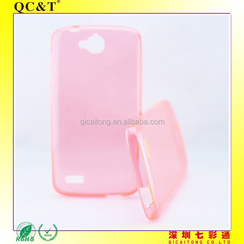 transparent tpu gel soft case for Huawei 3C Play Honor Holly