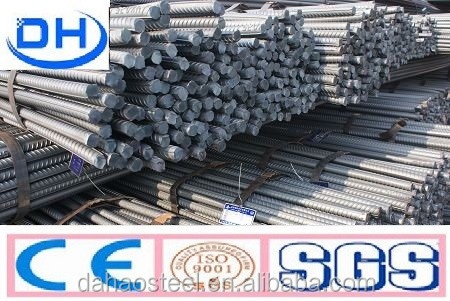 BS4449 Grade steel rebar, deformed steel bar, iron rods for construction 6m /9m/12m