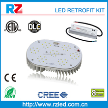 DLC led outdoor lighting fixture high quality 400w led retrofit kit, 1000w high pressure sodium lamp led replacement