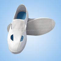 white Canvas SPU Mesh for Cleanroom / 4 Holes ESD Shoes