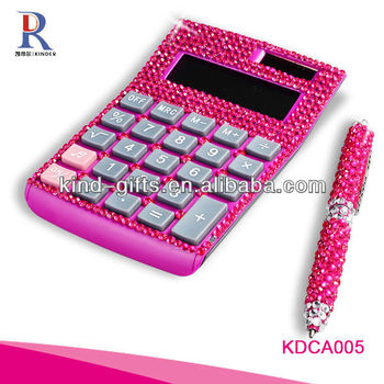 Customer Design Rhinestone Diamond Promotional Financial Calculator Manufactory|Factory|Exporter