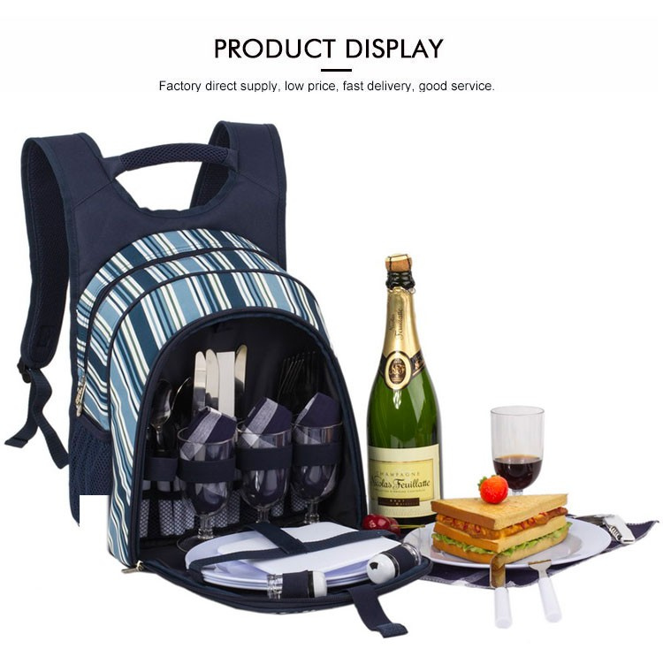 Outdoor Cooler Lunch Picnic Bag For 4 Person