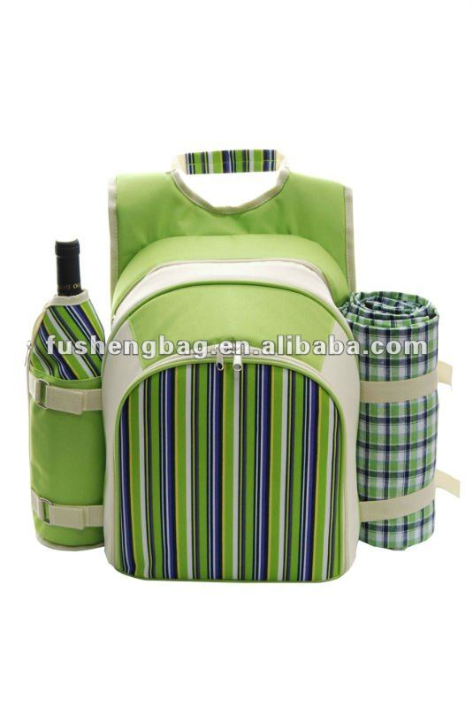 4 person picnic backpack,picnic wine set for 2 person