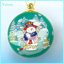 2015 Fashion christmas gift, wholesale clear plastic ball christmas ornaments