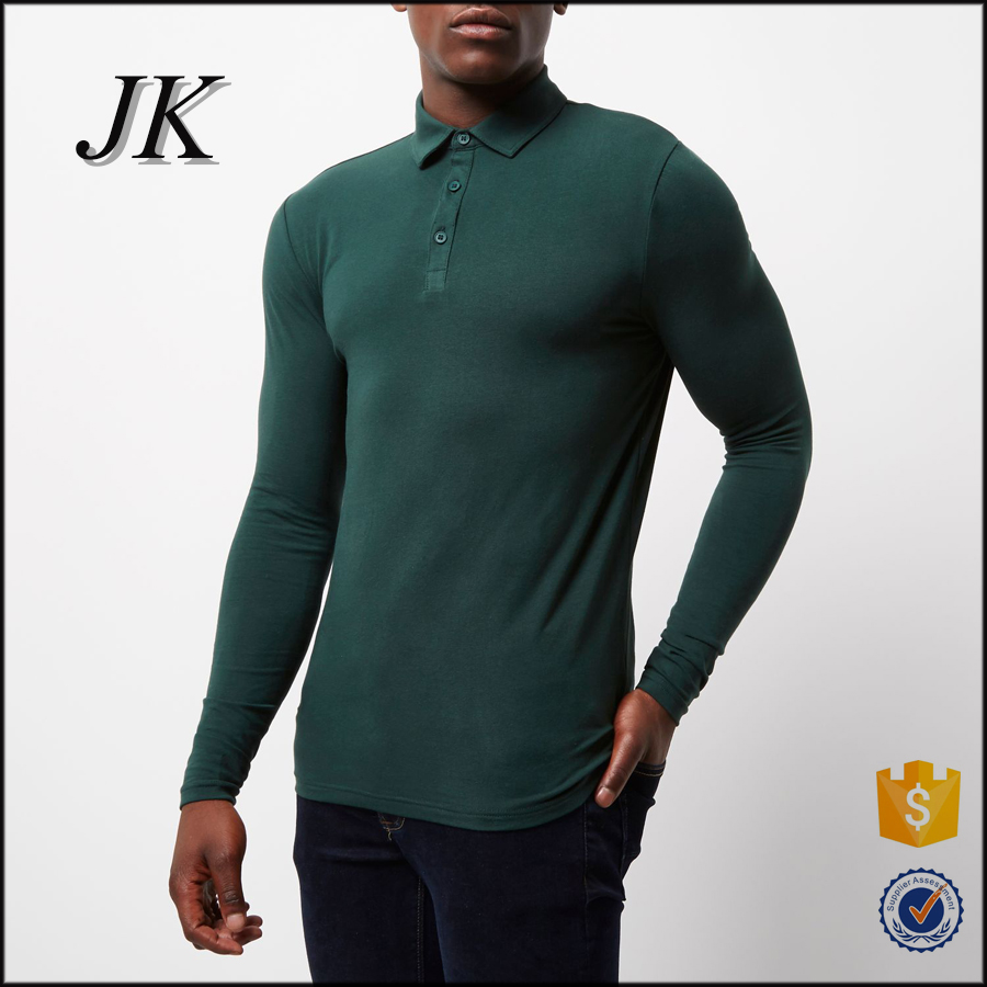 2017 Men's best sales 100%cotton polo dry fit polo shirt long sleeve