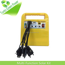 Portable solar system with USB 10 in 1 mobile charger 12V-7Ah Lead Acid Battery