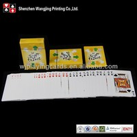 Good Quality Customized Coated Plated Plastic Bridge Playing Cards,Logo Playing Cards