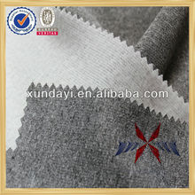 knitted elastic moisture-absorbent polyester melang gray brush fabric