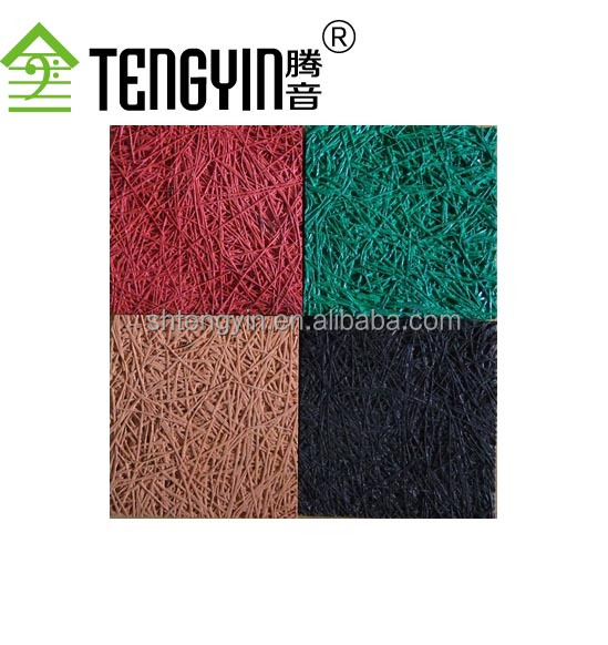 2016 Factory production ISO certification colored wood wool acoustic insulation board