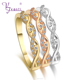 New Trendy Wholesale Unique Design Fashion Ladies Jewelry Three Color Ring Sets