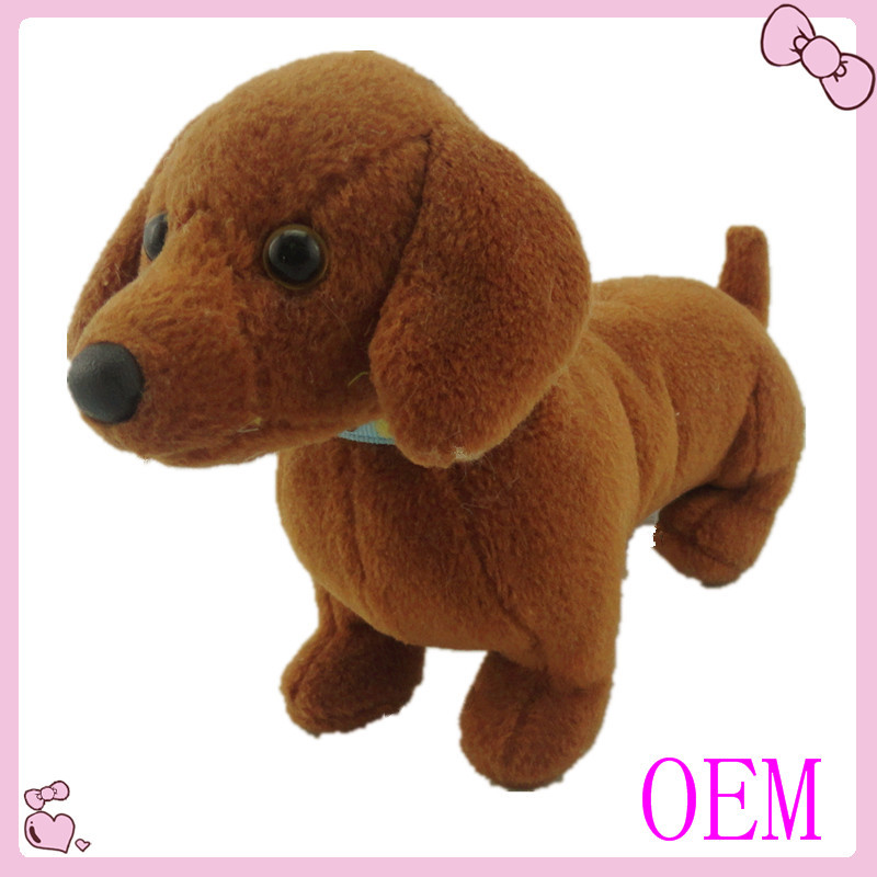Customized stuffed plush dog toy Long body short leg dog