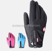 Wholesale factory custom 2015 hot selling winter unisex outdoor sports waterproof non-slip touch screen cycling gloves