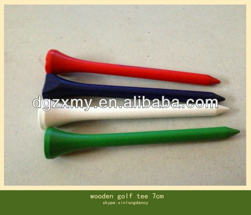 wooden green golf tees for sale