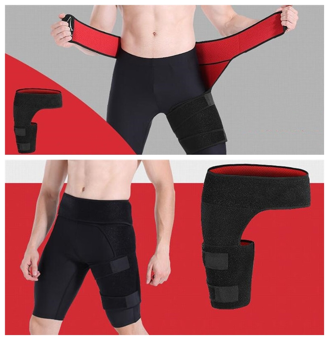 Adjustable Compression Shaper Protection Groin Support Wraps Thigh Trimmer Belt