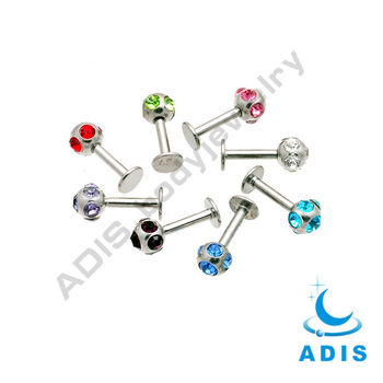 Fashion 316L Disco Ball Lip Ring Piercing
