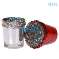 wholesale glass taper candle holders for home decoration