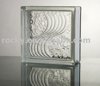 sea wave glass block
