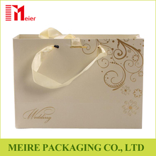 Luxury Gold hot foil fantastic gift paper carry bag for wedding day
