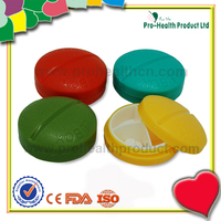 China Wholesale Funny 4 Compartments Light Weight Pill Box