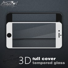 Wholesale Mobile Phone Accessories 9H 3D curveTempered Glass Screen Protector for iphone 7