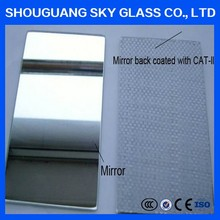 Kinds of Color glass Safety Mirror sheet with vinyl back Film from manufacture
