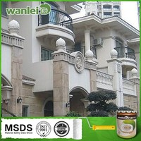 Water resistance and weather resistance architecture wall paints