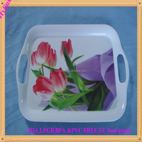 Wholesale melamine customerized serving tray print melamine trays plastic serving tray