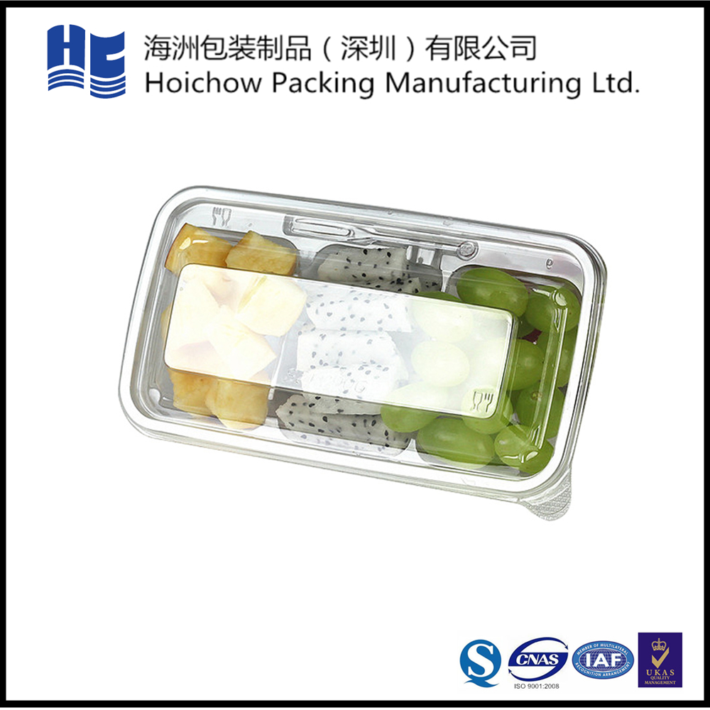 Shenzhen alibaba supplier customizable rectangle folding plastic food box