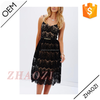 China supplier wholesale women wear high quality lace sexy sleeveless one piece girls party dresses