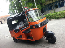 China supplier new product Three Wheel Motorcycle India Bajaj Tuk Tuk Taxi