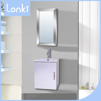 2017 Simple Modern bathroom wall cabinet with glass doors for sale