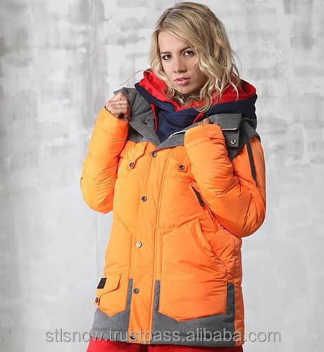 2014/2015 High quality Unisex warm Ski Snowboard jacket, Indi Jacket NeonOrange
