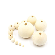 high quality factory price handmade wooden beads from 4mm to 16mm round shape natural unfinished wood beads