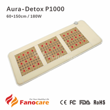Aura-Detox P1000 Fanocare jade tourmaline far infrared light photon heating thermal health mattress Bio magnetic therapy mat