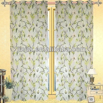 2015 latest design curtain for conference room curtain room polyester burnout fabric