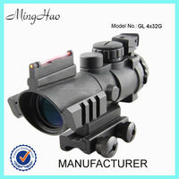 4x32 Rifle Scope Compact Military Airsoft Hunting Red / Green Dual Illuminated scope