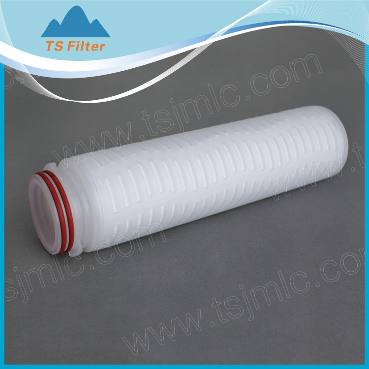 manfacturer supply water filter absolute rate 0.1um pp pleated filter catridge for water treatment system