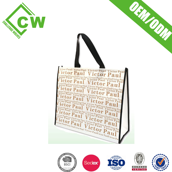 High Quality Custom Logo the shopping bag Customized