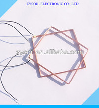 Self bonding Rfid Square Copper Inductor Coil