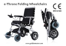 e-Throne! New Innovative design 8, 10, 12 inch power electric folding wheelchair CE/FDA approved, best in the world PN 17003