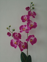 silk artificial orchid wedding favors orchids faux flowers Orchid(14 head,6 fruit)