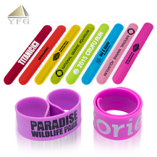 Promotional gift custom silicone slap bracelet,ruler slap wristband,rubber wrist band
