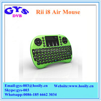 Wholesale Price Rii Mini i8 Wireless air mouse With keyboard remote control for PC Pad Android TV Box and IPTV