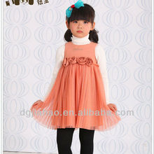 Good selling Princes Pleated skirt fashion little girls winter formal dresses