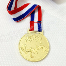Cheap custom metal gold award trophies and medals WM279