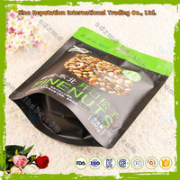 Custom printed stand up dry fruit food packaging bags with zipper