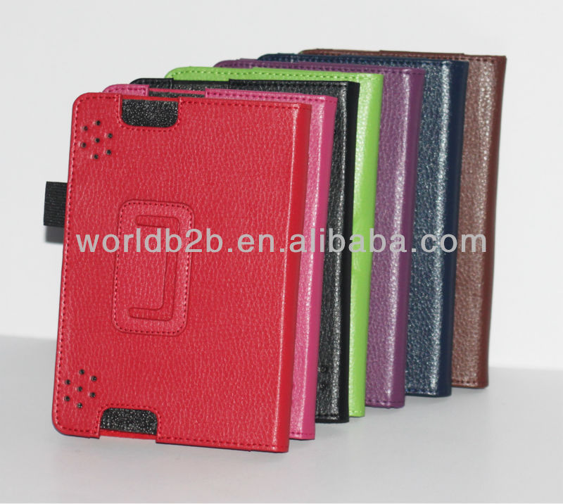 Leather case for kindle fire HDX 7 inch With stand