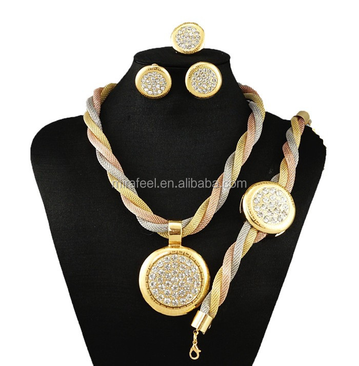 Summer simple design wholesale african costume jewelry set BJ 1029458
